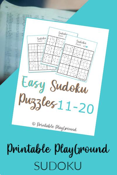Easy Sudoku Games 11-20