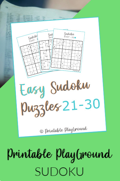 Easy Sudoku Games 21-30