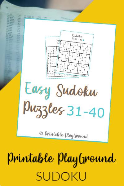 Easy Sudoku Games 31-40