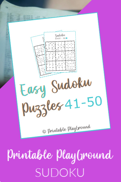 Easy Sudoku Games 41-50