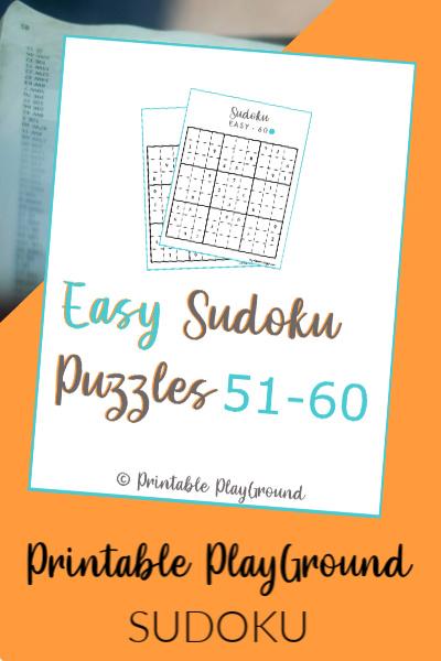 Easy Sudoku Games 51-60