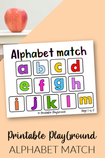 Alphabet match for preschool activites