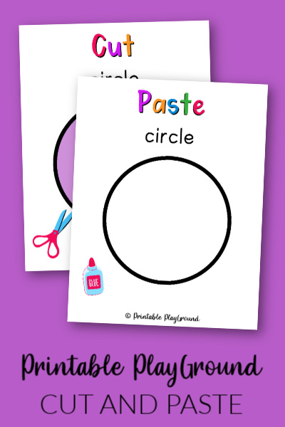 Circle Cut and Paste Activity for Preschooler