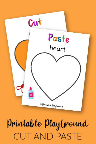 Heart Cut and Paste Activity for Preschooler