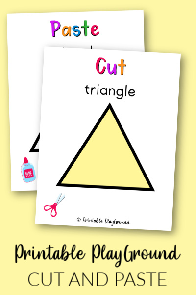 Triangle Cut and Paste Activity for Preschooler