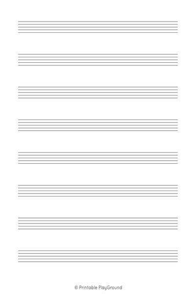 A4 - 1 Staff 8 Music Sheet - Printable PlayGround