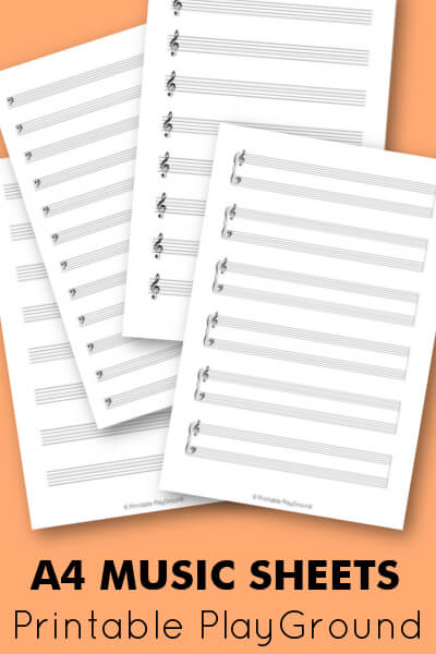 A4 blank music sheet pack - Shop