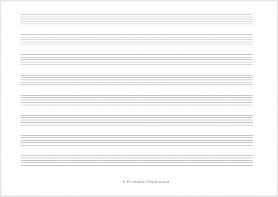 Blank Music Sheet - A4 - Landscape - Shop image