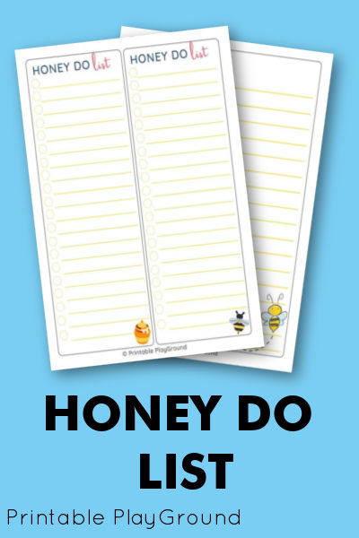 Honey Do list- shop
