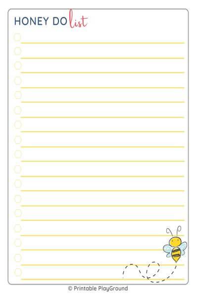 Honey do list - full page